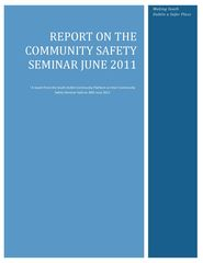 Report on the Community Safety Seminar - June 2011