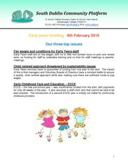 South Dublin Community Platform Early Years Briefi...